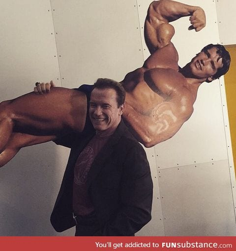 Arnold carrying Arnyoung