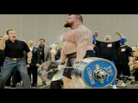 Dude breaks deadlift record while Arnold yells at him