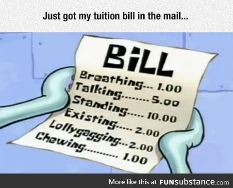 There was also a bill for receiving the bill