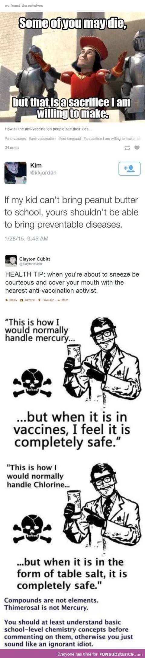 Anti-vaxxers logic