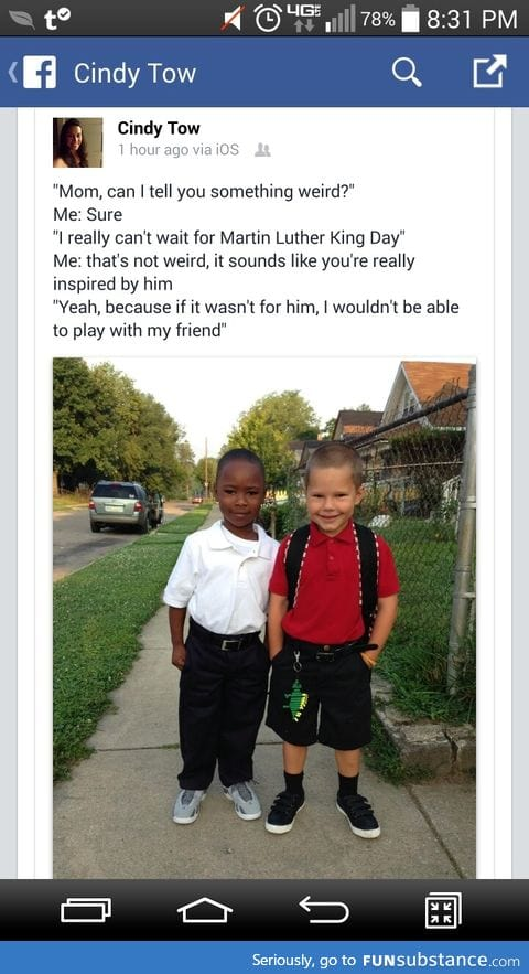 Thank you Martin Luther King J.R