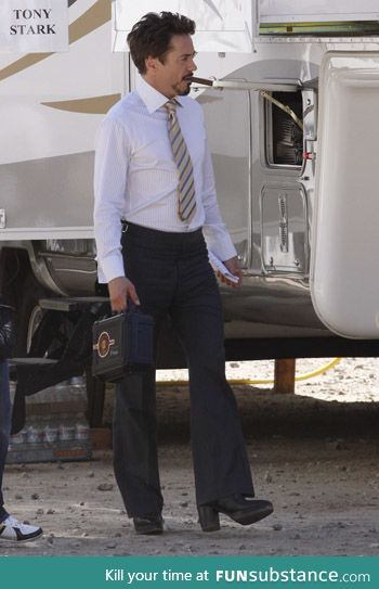 in case you hadn't seen it; RDJ in high heeled boots