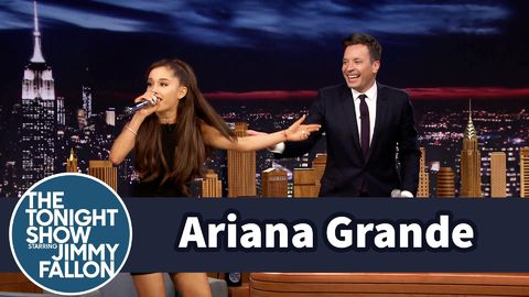 Ariana Grande does an epic impression of Celine Dion singing Beauty And The Beast