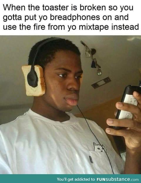 burning through those tunes