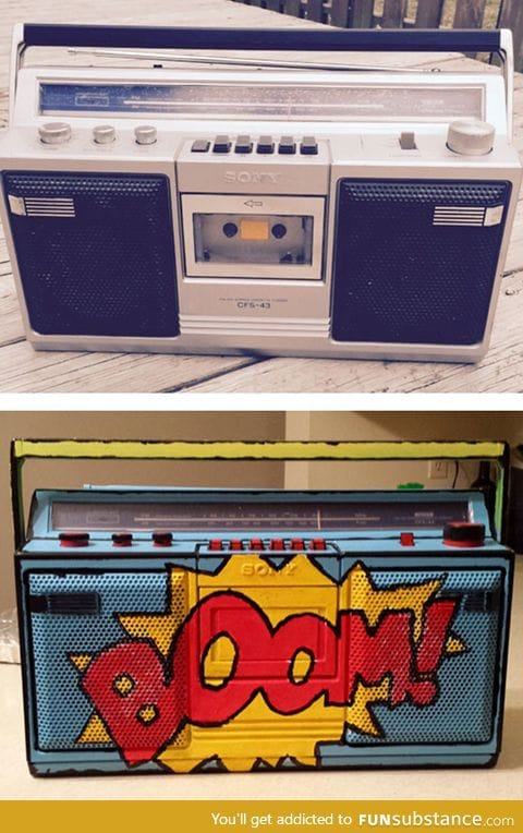 Painted boombox