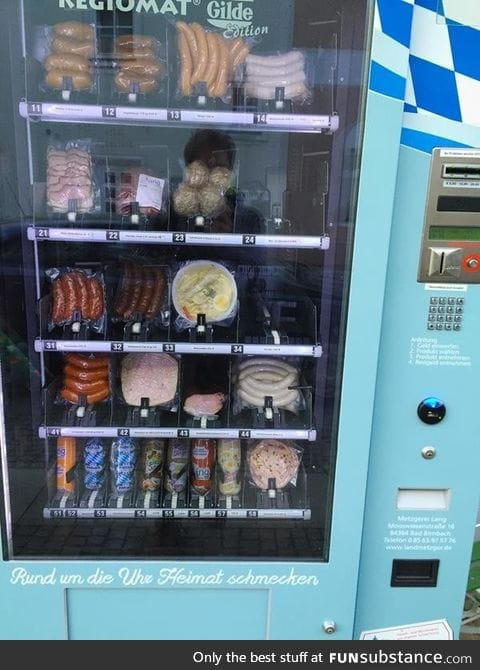 A sausage vending machine. Welcome to Germany