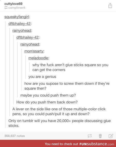glue...