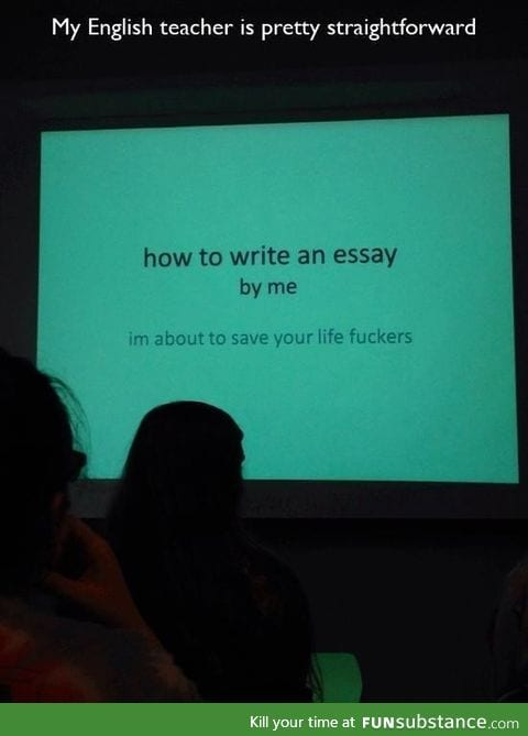 If only all professors had a sense of humor