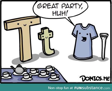 """T"" party"