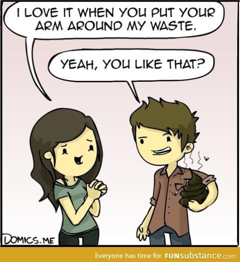 Around my waste