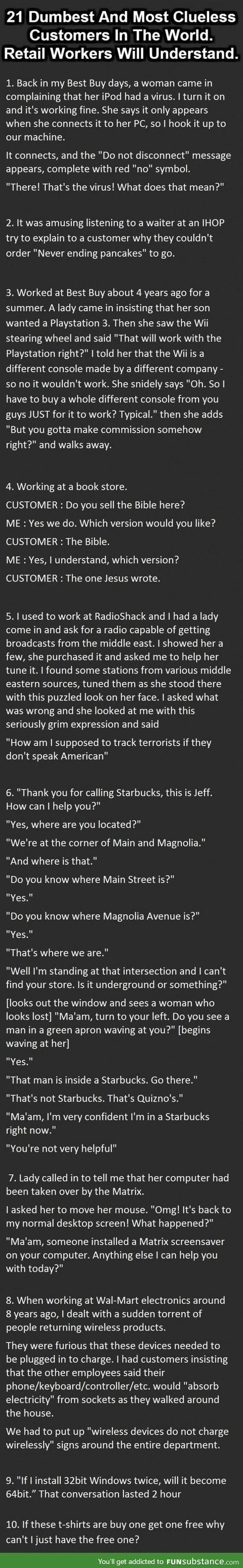 Insane customers