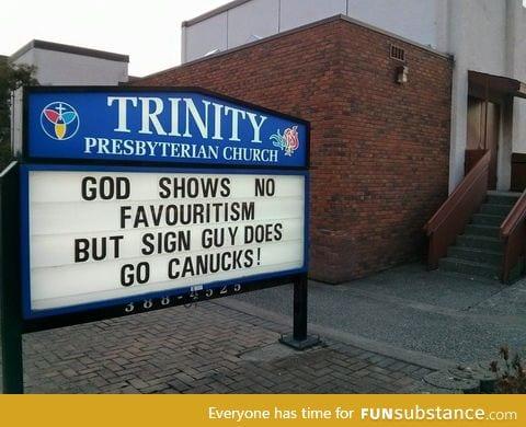 My favorite church sign