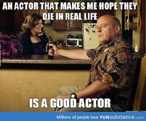 A good actor
