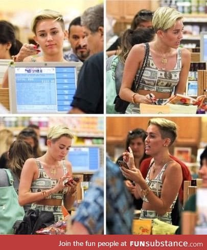 Her card declined while she was wearing money