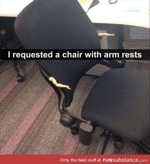 Arm rests