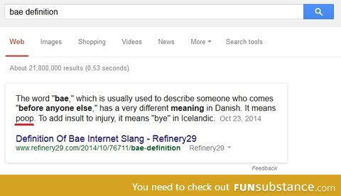 searched bae definition didn't mean what i imagined it would mean