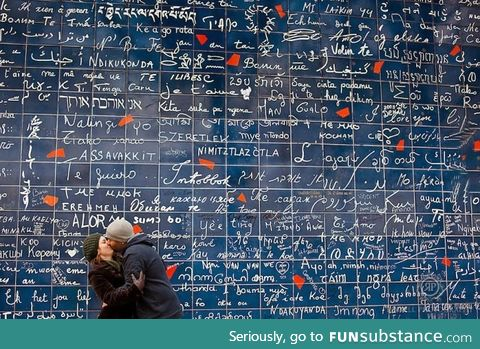 The Love Wall in Paris has every single language of 'I love you'
