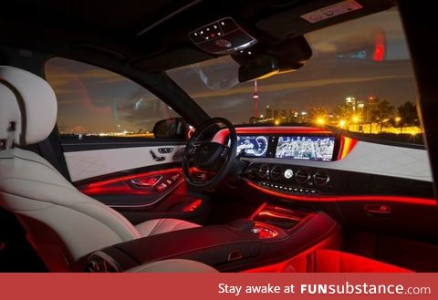Who needs a house when you can sleep in your s-class