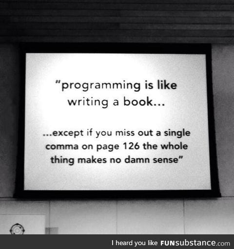Programming is like writing a book