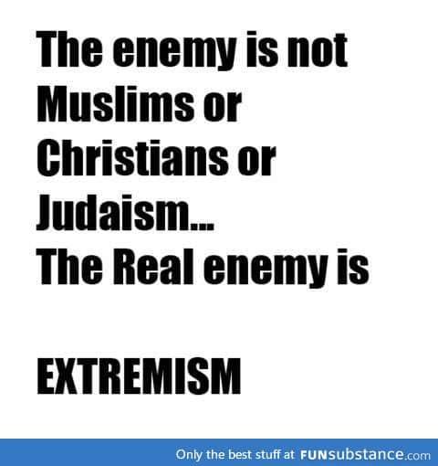 Religious extremists aren't religious