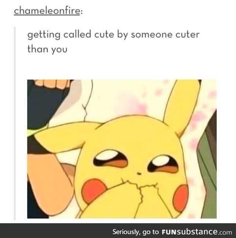 When bae says you cute
