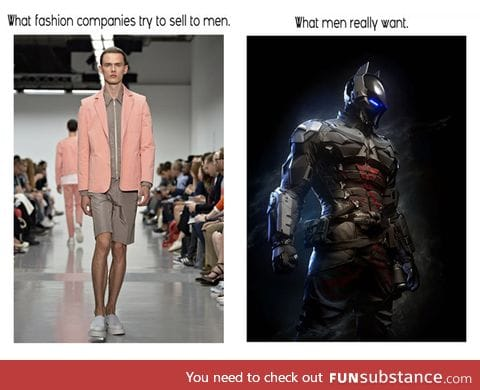 What men really want in fashion