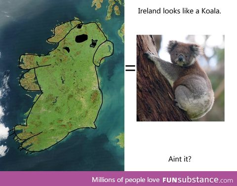 Ireland looks like a Koala