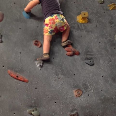 Adorable toddler could rock climb before she could walk