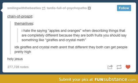 giraffes & crystal meth