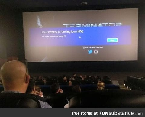 My friend just sent me this pic from the cinema