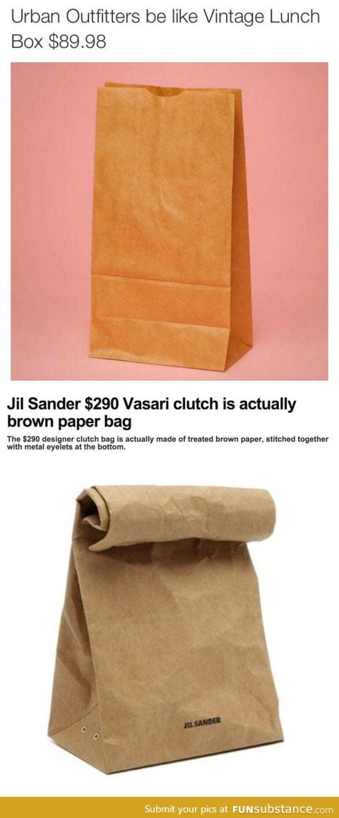 This ridiculous designer clutch bag is actually brown paper bag