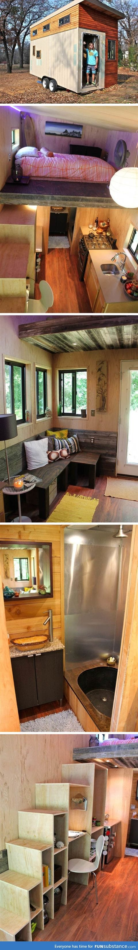 College student builds tiny home