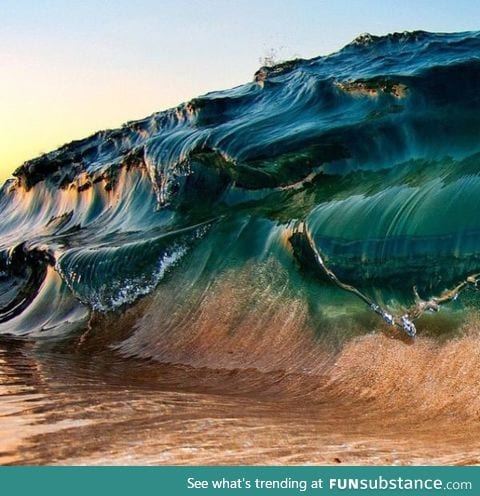 Photo of a wave by Clark Little