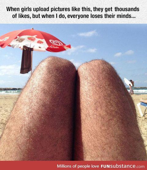 Leg selfies