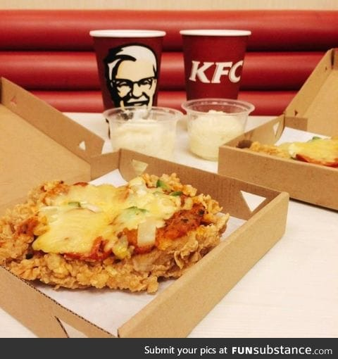 Chizza - Chicken crust pizza by KFC Philippines. Because why not?