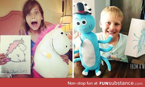 Toy maker transforms kids' drawings into real stuffed animals