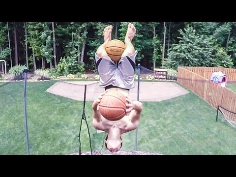 Nearly impossible basketball trick shot