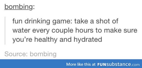 Healthy drinking game