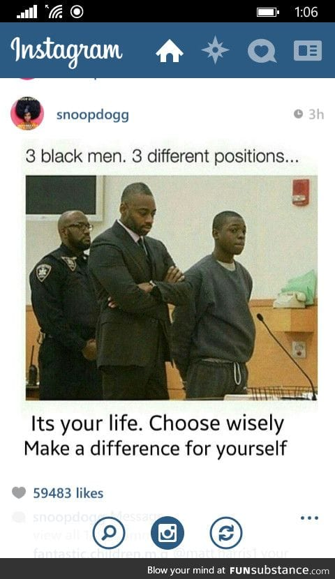 Its not about race, its about what you decide to do
