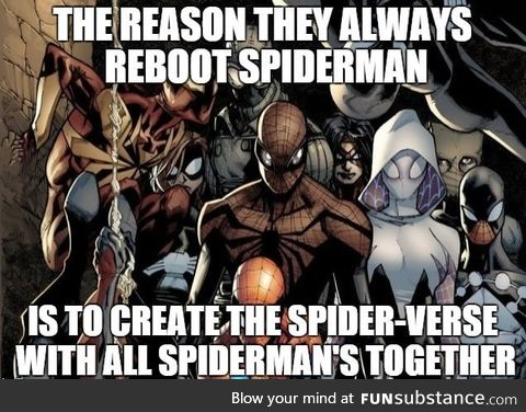 Just imagine all the spidermans in one movie