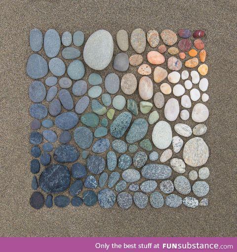 Beach rocks art