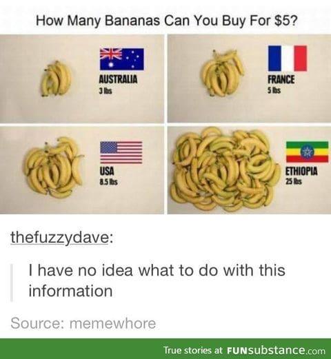 How many Bananas can $5 buy