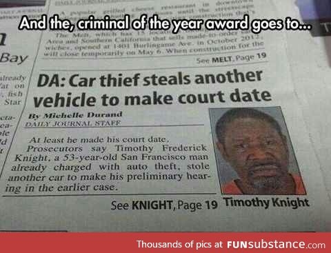 Criminal of the year
