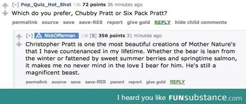 Nick Offermen's thought on Chris Pratt