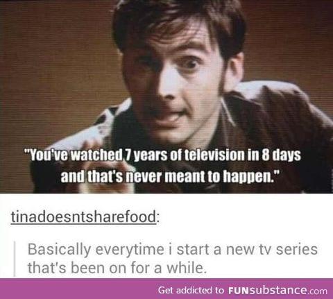Binge watching tv shows