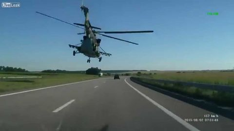Helicopter Cruise over the Highway
