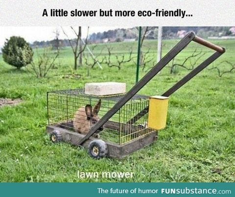 The green solution for lawnmowers