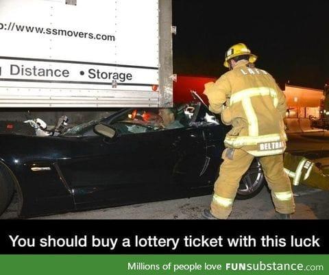 Lucky sob