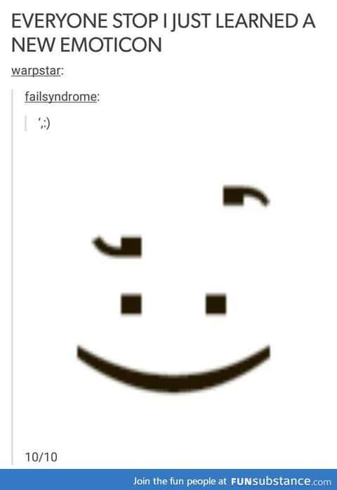 New Emoticon ',:)