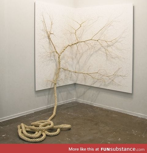 Beautiful trees created by unravelling ropes